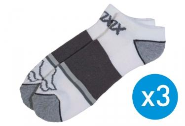 x3 paires de chaussettes fox tech midi blanc 39 42