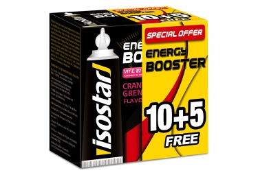 Gel Energétique Isostar Energy Booster Grenadine 15x20g