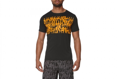 Asics GPX Short Sleeves Jersey Black Orange