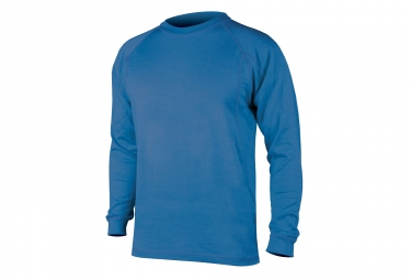 Endura maillot merino manches longues bleu xl