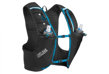 Camelbak Ultra Pro Vest + 17oz Quick Stow Flask Black Blue