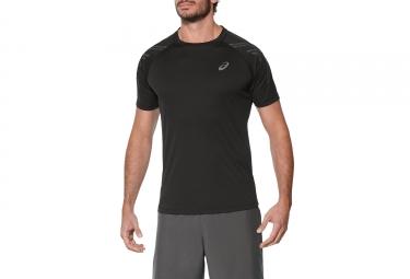 Asics Stripe Short Sleeves Jersey Black