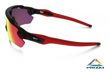 oakley lunettes enfant radar ev xs path noir mat rouge prizm road ref oj9001 0631
