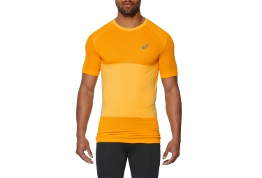 maillot manches courtes asics fuzex seamless orange m