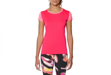 Asics Fuzex Women Short Sleeves Jersey Pink