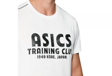 maillot manches courtes asics training club blanc gris l