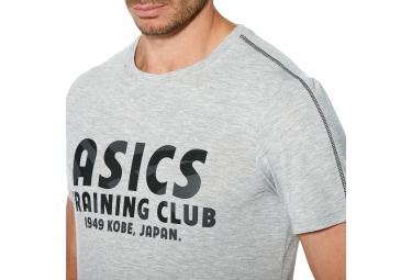 maillot manches courtes asics training club gris xxl
