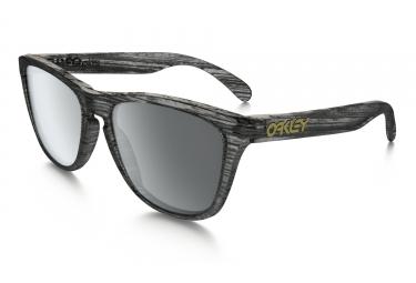 oakley lunettes frogskins driftwood collection noir gris black iridium ref oo9013 b655