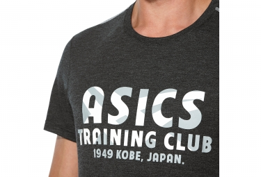 maillot manches courtes asics training club noir m