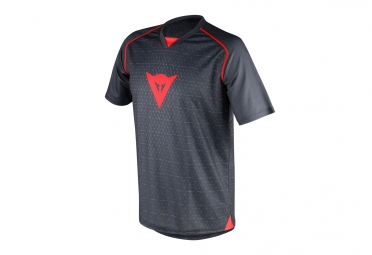 maillot manches courtes dainese riding gris rouge s