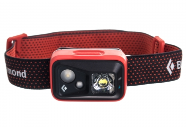 lampe frontale black diamon spot 200 lumens rouge orange