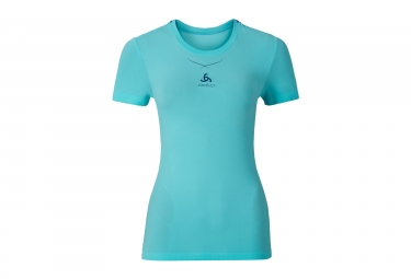 Women Short Sleeves Baselayer ODLO 2017 Ceramicool Teal Blue