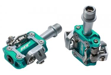 Paire de pedales vtt ht components m1 turquoise