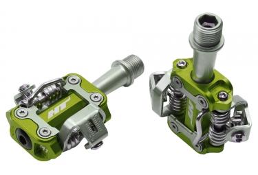 paire de pedales vtt ht components m1 vert