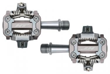 paire de pedales vtt ht components m1 argent