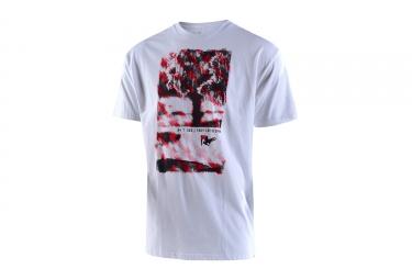 t shirt troy lee designs twenty 4 seven blanc rouge l