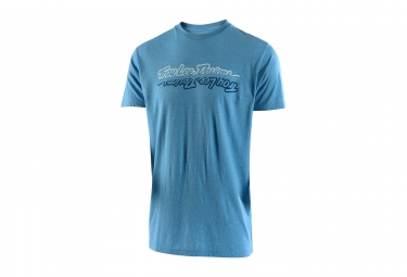 t shirt troy lee designs all time bleu l