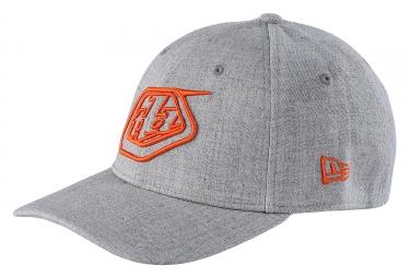 Casquette Troy Lee Designs Shield New Era Gris Orange