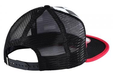 casquette troy lee designs granger blanc noir rouge