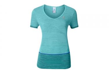 T shirt running manches courtes femme odlo 2017 seamless kamilera bleu xs