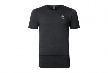 T shirt running manches courtes odlo 2017 seamless kamilero noir xl