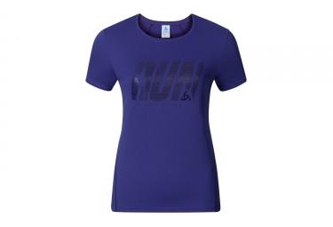 T shirt manches courtes femme odlo 2017 shaila print violet xs