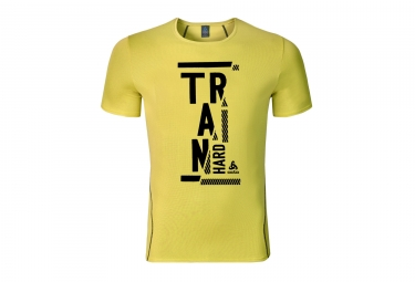 T shirt manches courtes odlo 2017 imperium print jaune s