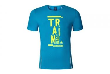 T shirt manches courtes odlo 2017 imperium print bleu xl