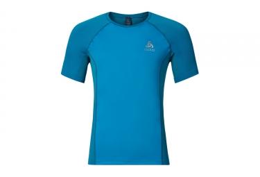 T shirt manches courtes running odlo 2017 taranis bleu xl