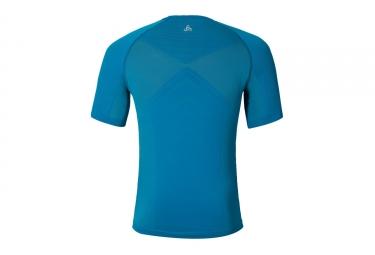 T-shirt Manches Courtes Running ODLO 2017 Taranis Bleu