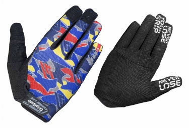 Paire de gants longs gripgrab rebel bleu camo xl