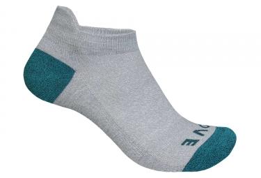 Paire de chaussettes basses femme gripgrab classic gris vert 35 38