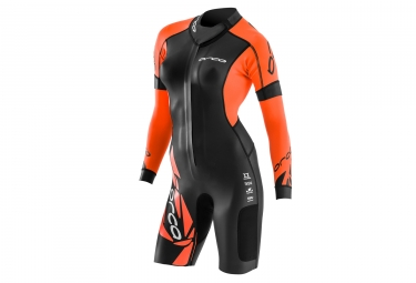 combinaison femme orca swim run core noir orange l
