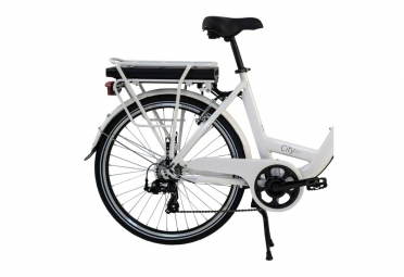 Vélo Electrique Wayscral City 415/36V 13.2Ah - Shimano Tourney Blanc