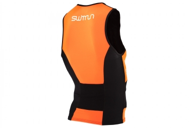 maillot de triathlon orca swimrun noir orange s