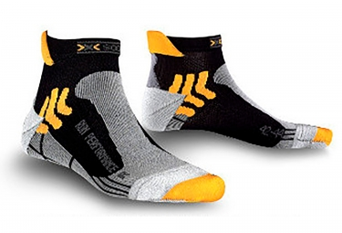 paire de chaussettes x socks run performance noir 45 47