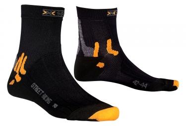 x socks paire de chaussettes bike street wr noir 39 41