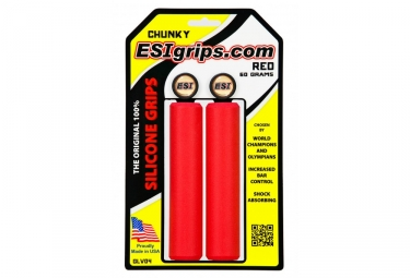 ESI Chunky 32mm Silicone Grips - Red