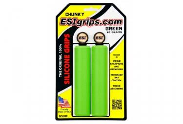 Paire de Grips Esi Chunky 32mm Vert