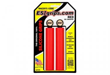 Paire de Grips Esi Racer's Rouge