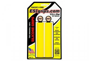 Paire de Grips Esi Racer's Jaune