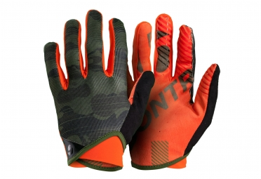 Paire de Gants Longs Bontrager Rhythm Camo Orange