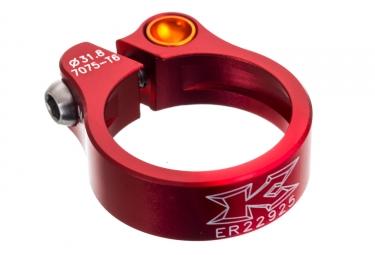 collier de selle kcnc road lite 31 8mm rouge
