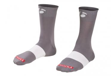 Chaussettes bontrager race 12cm gris 40 42