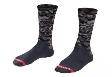 chaussettes bontrager lithos 13cm gris camo 43 45