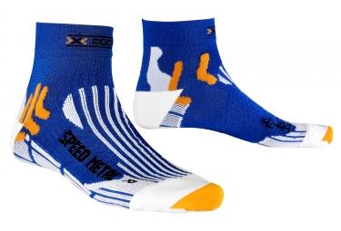 paire de chaussettes x socks speed metal argent bleu 35 38
