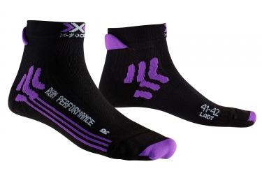 paire de chaussettes femme x socks run performance noir 37 38