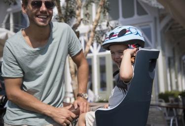 Porte-Bébé sur Porte-Bagages Bobike Exclusive Maxi Bleu