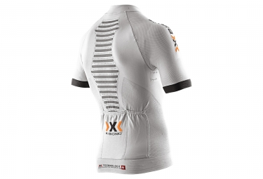 maillot manches courtes x bionic race evo blanc m