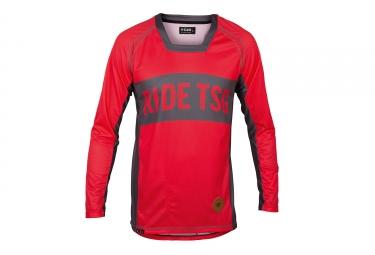 maillot manches longues tsg tp1 rouge gris xl